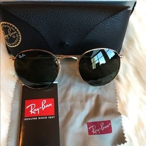 Ray-Ban Round Metal (Gold-Green)😎